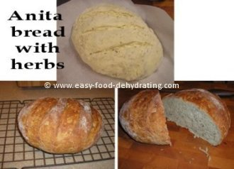 Herbed Anita Bread, whole and sliced