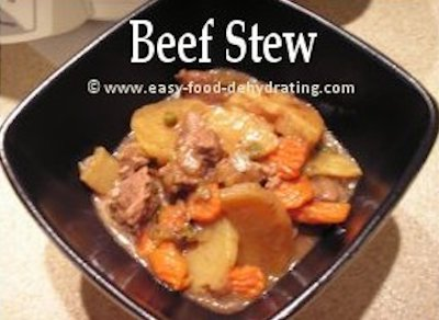 Beef Stew with Dehydrated Vegetables