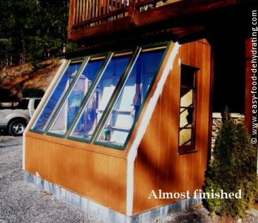 greenhouse built using recycled windows