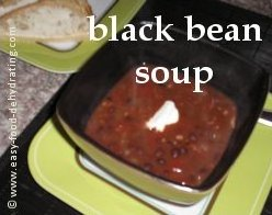 Black Bean Soup by Easy Food Dehydrating