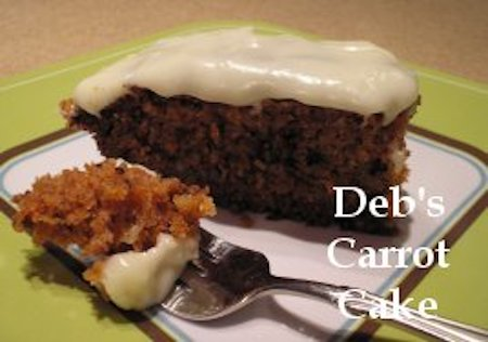 Carrot Cake made with dehydrated carrots