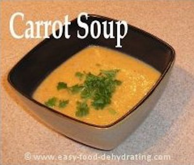 Dehydrated Carrot Soup