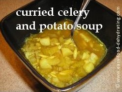 Curried Celery and Potato soup