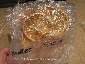 Vacuum-Sealed Dehydrated Oranges