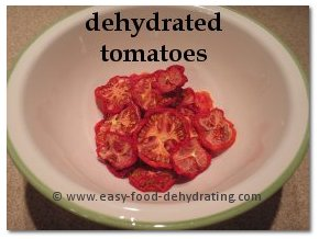 Dehydrated tomatoes in bowl