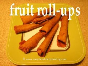 Fruit Roll-ups (leathers) on a plate