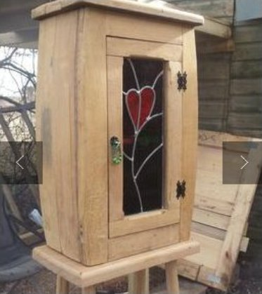 James' cabinet with stained glass