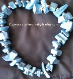 dehydrated potato beaded necklace