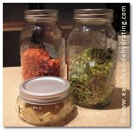Mason jar trio on Easy Food Dehydrating