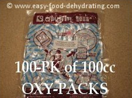 100cc Oxygen Absorbers, 100-pk on Easy Food Dehydrating