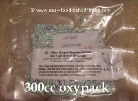 300cc oxygen absorbers in a bag