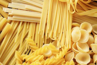 assorted dry pasta