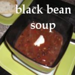 Black Bean Soup in a bowl