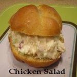 Chicken Salad on a homemade bun