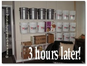 Dehydrated Food Storage Wall half way