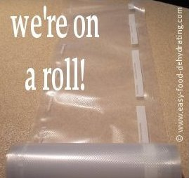 Vacuum sealer bags on a roll