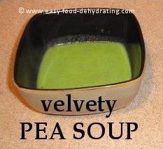 Velvety Pea soup